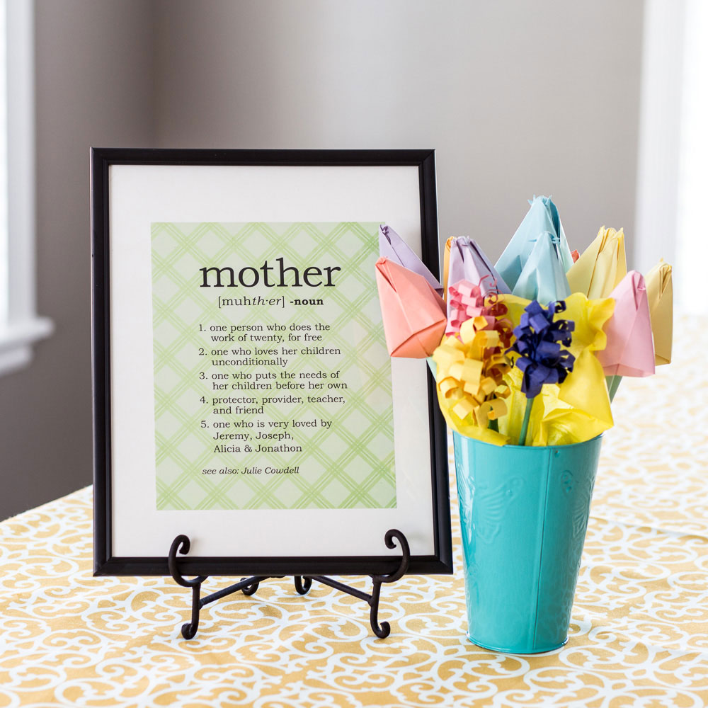 Mother's Day with Origami Flowers