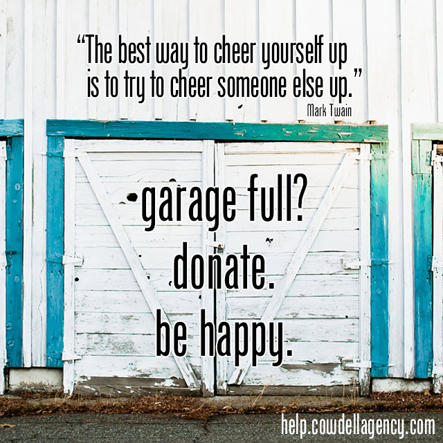 garage full? donate. be happy.