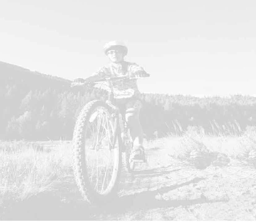 mountain bike with helmet