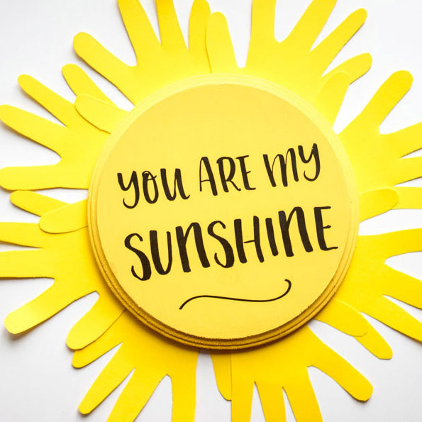You Are My Sunshine Handprint Craft